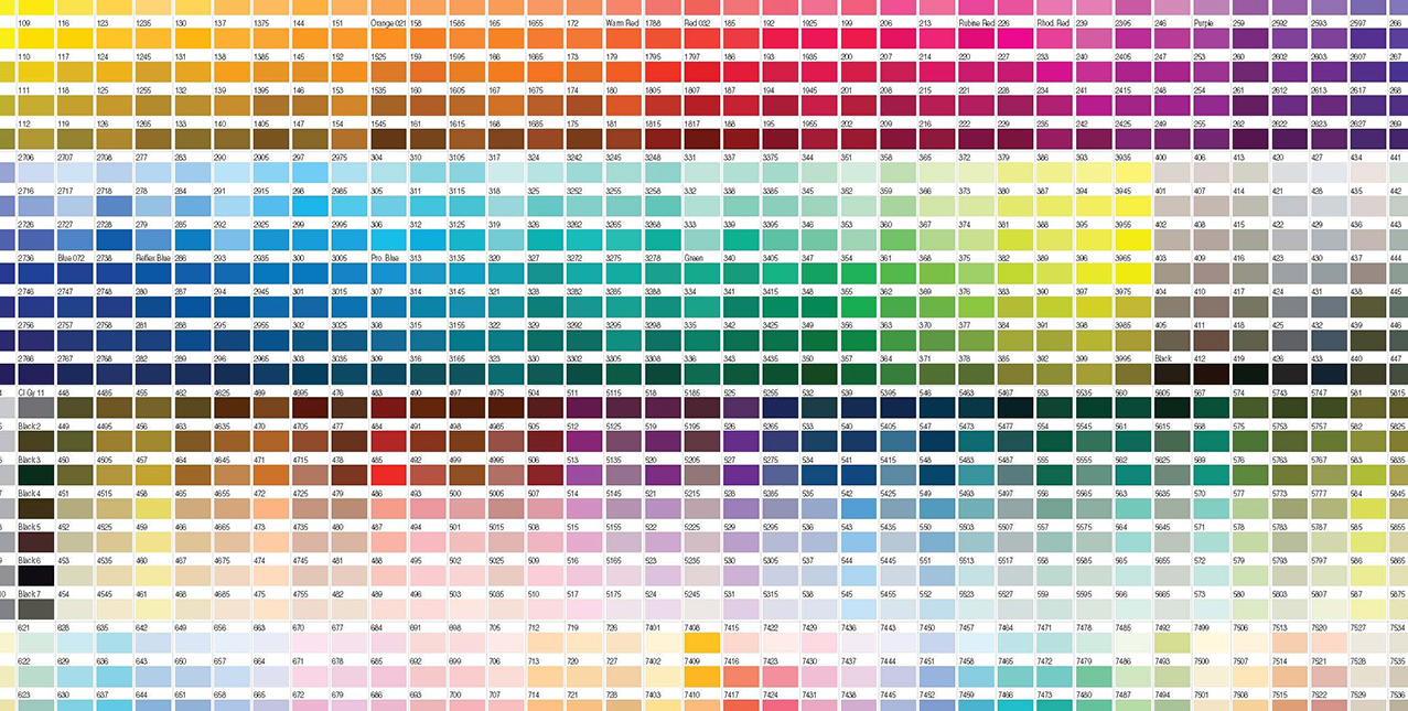 Padrão de cores Pantone